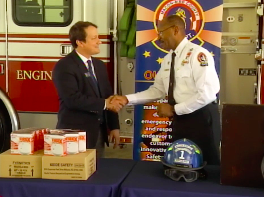 Smoke detectors donated to Macon families in need